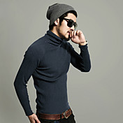 Men'S Cotton Fasion High Collar Knit Sweater