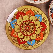 Bohemian Appetizer Plate, Ceramic Diameter 8