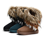 Fur Flat Heel Snow Boots Booties/Ankle Boots Casual Shoes(More Colors)