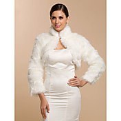 Long Sleeve Faux Fur Bridal Wedding/Special Occasion  Wrap/Jacket