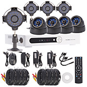 8CH Channel D1 DVR CCTV Security System Kit(4pcs+4pcs Dome/Bullet Cameras with 420TVL 1/4 CMOS)
