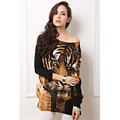 Maternity Tiger Head Print Blouse