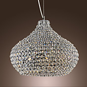 40W Crystal Pendent Light in Metal Ring Feature