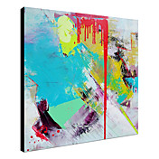 Hand Painted Oil Painting Abstract Flowing with Stretched Frame 1312-AB0002