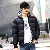 YiRANCP Men's Black Trendy Thick Cotton Coat