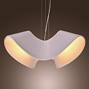 Characteristic Artistic 3 Light Pendant with Screwy Shade