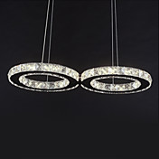 Crystal Bulb Included Led Pendant, Concise Modern Metal Plating
