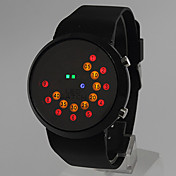 Unisex Colorful LED Rolling Display Silicone Band Wrist Watch