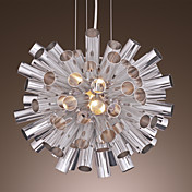 40W Modern Pendant Light with Metal Cylinder Piled in the Shades Down