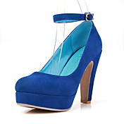 Suede Chunky Heel Pumps Heels Shoes(More Colors)