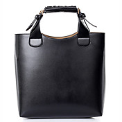 N-PAI Women's Black Simple Big Size Tote(29*8*27)