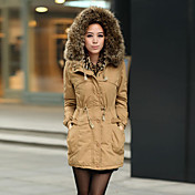 Mailljor Casual Long Thicken Slimming Coat(Khaki)