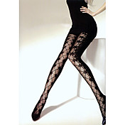 200D Splicing Jacquard Weave Thorn Flower Pattern Pantyhose