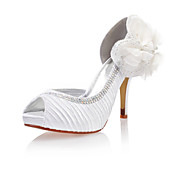 Satin/Lace Women's Wedding Stiletto Heel Pumps Heels With Rhinestone(More Colors)