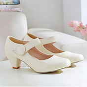 Faux Leather Chunky Heel Mary Jane Heels Shoes(More Colors)
