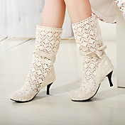 Chunky Heel Mid-calf Boots With Bowknot(More Colors)