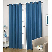 (One Panel)Modern Classic Solid Energy Saving Curtain