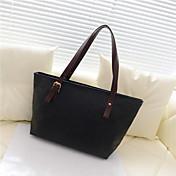 N-PAI Women's Black Simple Word Print Shoulder Bag(28*37*12)
