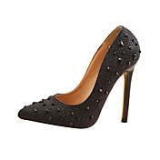Faux Leather Women's Stiletto Heel Pumps Heels Shoes(More Colors)