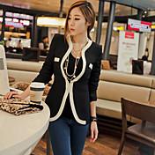Weimeijia Elegant Suit Style Coat(Black)