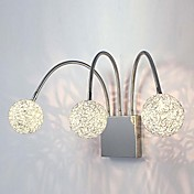 Globe Wall Light, 3 Light, Modern Metal Chrome