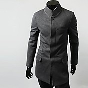 ZHELINMen'S Chinese Tunic Suit Blazer Simple Collar Suit