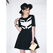 TS Simplicity Color Block Splice Dress