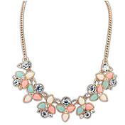 BTIME Women's Multi Color Sweet Fashion Gemstone Necklace