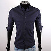 CUBFACE Men's Fit Square Collar Shirt