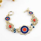 Kayshine Women's Bohemian Style Rhinestone Studded Alloy  Openwork Bracelet