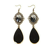 MISS U Diameter 18mm Black Drop Earings