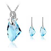 Sammy's Lovely Dolphin Pattern Crystal Studs And Necklace Set