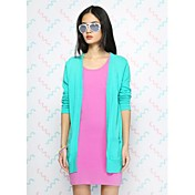 Women's Fashion Candy Color Long Cardigan