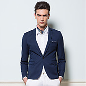 BOSIBIO Men's Slim Joint Business(Navy Blue)
