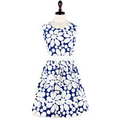 MFL Hollow Embroidered Dress (Blue)