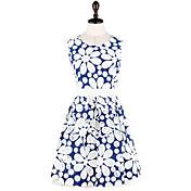 MFL Hollow Embroidered Dress (Blue)