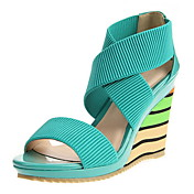 Leatherette Women's Wedge Heel Platform Sandals Shoes (More Colors)