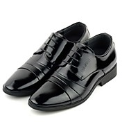 Leather Men's Low Heel Comfort and Fashion Oxfords Shoes With Lace-up