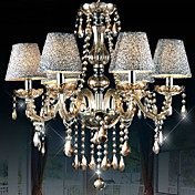 Chandelier, 6 Light, Luxury Metal Fabric Electroplating