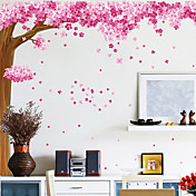 Floral Romance Flowering Cherry Pink Decorative Wall Stickers