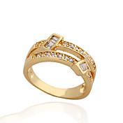 Jian Feng 18K Genuine Gold Plating Zircon J0676 Ring