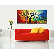 Dien Lucky Tree Printed Three-Piece Joint Frameless Paintings 9057