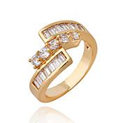 Jian Feng 18K Genuine Gold Plating Zircon J0479 Ring
