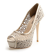Lace Women's Stiletto Heel Peep Toe Pumps/Heels Shoes(More Colors)