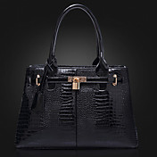 POLO Women's Simple Embossing Stereotypes Tote(Black)