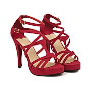 Faux Leather Women's Stiletto Heel Heels Sandals Shoes(More Colors)