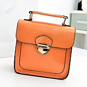 Fenghui Women'S Orange Vintage Style Pu Leather Shoulder Bag Crossbody&Messenger Tote