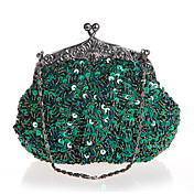 BPRX New Women'S Exquisite Shape Paillette Evening Bag  (Green)