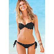 Glamour Girl Women's Sexy Strapless Summer Bikini (Black)