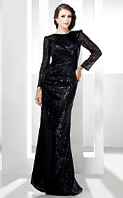 Sequined Sheath/Column Bateau Floor-length Evening Dress inspired by Rosario Dawson